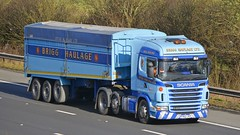 FY63 JYZ (panmanstan) Tags: truck wagon motorway m18 yorkshire transport lorry commercial vehicle freight scania bulk langham haulage hgv g440