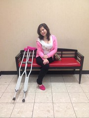 amp-1108 (vsmrn) Tags: woman crutches amputee onelegged