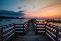 Sunset (alessioseverini) Tags: longexposure sunset italy lake landscape lago tramonto umbria trasimeno pontile lagotrasimeno nikond90 umbrians