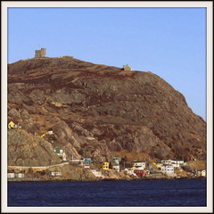 Signal Hill (Tracy Christina) Tags: houses sky canada newfoundland harbour battery stjohns cabottower