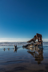 2016-01-10 - Peter Iredale Shipwreck-37 (www.bazpics.com) Tags: ocean sea usa beach water oregon america skeleton sand ship pacific or wave peter shipwreck frame hull wreck iredale
