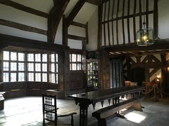 Little Moreton Hall (KCWMG) Tags: england table hall gallery little great tudor moat minstrel 1500s moreton