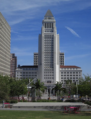 City Hall After Three PM (Robb Wilson) Tags: losangeles cityhall downtownla grandpark lacityhall
