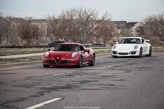 Combo (Hunter J. G. Frim Photography) Tags: red white italian colorado 911 wing german porsche alfa romeo supercar i4 991 gt3 4c pdk i6 porsche911gt3 alfaromeo4c porsche911gt3991