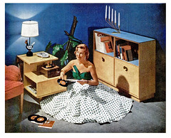 1956 playing my 45's (Al Q) Tags: music woman living room player 45 single record rca