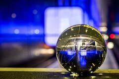 Blaue Stunde (TS_1000) Tags: hamburg ubahn universitt blau u4 kugel glaskugel