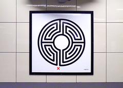 Labyrinth 233/270 (R~P~M) Tags: uk greatbritain england london art station train unitedkingdom railway londonunderground labyrinth wallinger hydeparkcorner enamel vitreousenamel