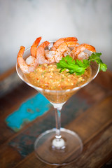(099/366) Mexican Shrimp Cocktail (CarusoPhoto) Tags: light food macro cooking window glass beautiful canon project out book cookbook is photo focus day natural mark cook martini shrimp mexican cocktail eat ii 5d 365 usm reflector 366 f28l ef100mm ef100mmf28lmacroisusmii
