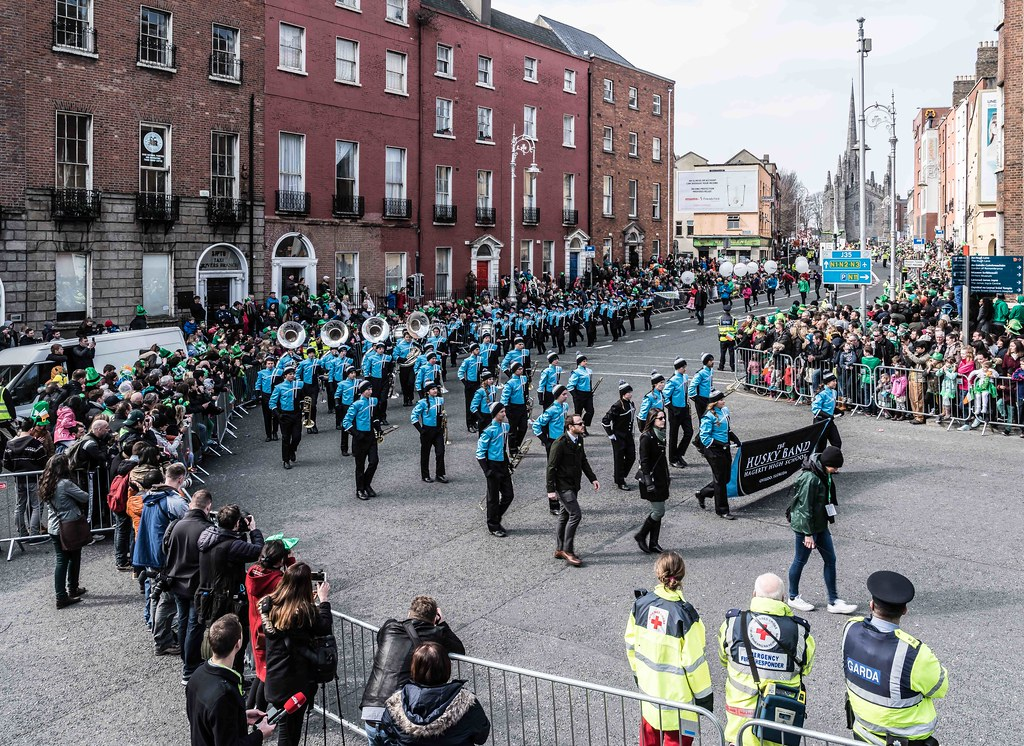 HAGERTY HIGH SCHOOL MARCHING HUSKIES [DUBLIN 2016 PATRICK'S DAY PARADE]-112556