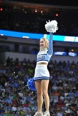 CHEERING' FOR THE HEELS (SneakinDeacon) Tags: basketball acc cheerleaders florida tournament ncaa eagles unc tarheels gulfcoast marchmadness atlanticsun