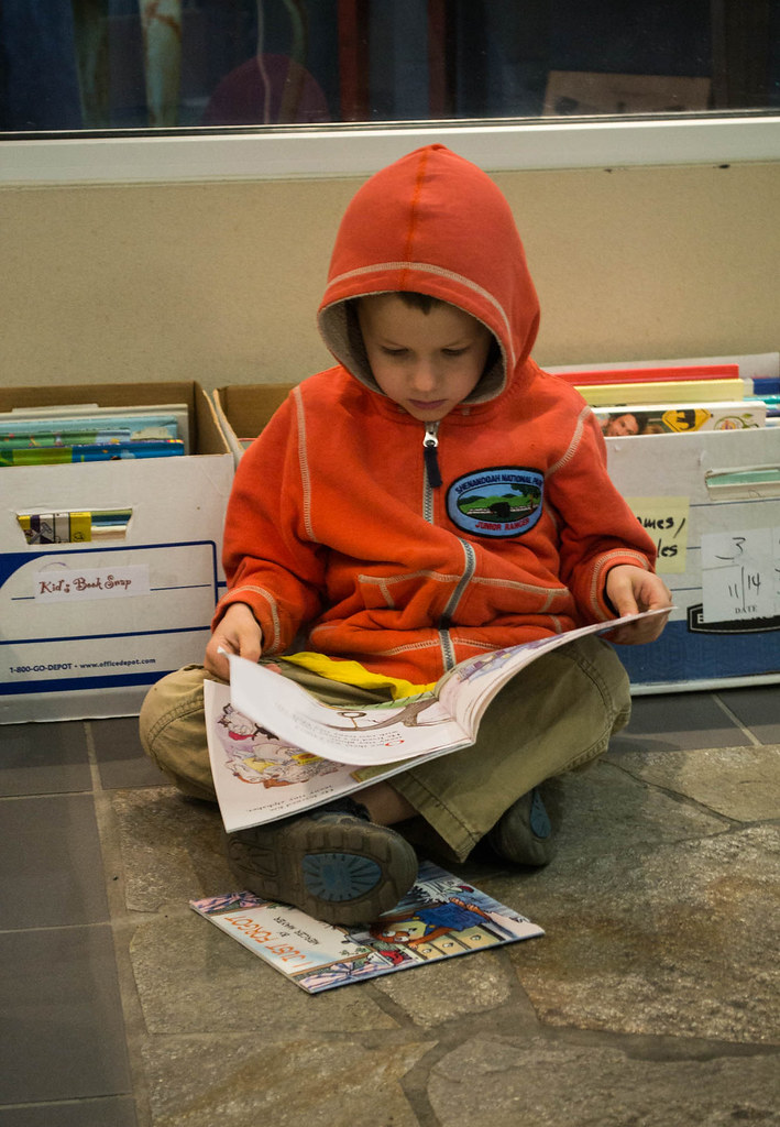 21st Annual Kids Book Swap.Child Reading