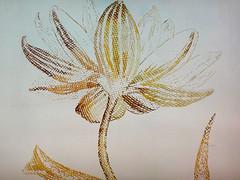 DSC09453 (scott_waterman) Tags: detail ink watercolor painting paper lotus gouache lotusflower scottwaterman