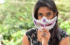 Rashi (rajnishjaiswal) Tags: portrait girl lady eyes mask daughter stare looks staring rashi girlwithmask