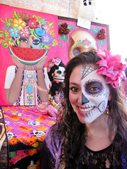 Day of the Dead Women (shaire productions) Tags: girls portrait people beauty smiling dayofthedead photo costume women paint pretty faces image traditional picture mexican event photograph diadelosmuertos tradition custom facepaint cultural