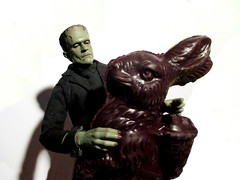 Frankenstein Monster Chocolate Rabbit Easter 7406 (Brechtbug) Tags: pictures new york city light shadow portrait holiday rabbit bunny green film halloween face its monster 1931 movie studio easter toy lite toys james scary moody shadows gloomy basket action zombie chocolate mary gothic goth s frankenstein hollywood figure horror terror type boris undead whale monsters universal alive collectible shelley creature transylvania fright collectable cadaver 2016 karloff eeeaster 3282016