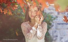 (Holasea-JWD) Tags: autumn portrait leaves asian women mt melbourne falling macedon canon5dmarkii