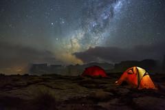 Drakensberg Nights (Astro-Tanja) Tags: nightphotography sky night stars tent astro astrophotography nightphoto milkyway drakensberg milklyway