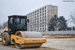 Volvo SD115D (Alexandre Prvot) Tags: construction construccin lorraine worksite buildingsite travaux chantier cugn grandnancy baustellebauplatz