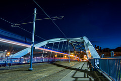 Park Square (Craig Skinner - www.craigskinnerphotography.co.uk) Tags: longexposure bridge light night stars nikon track sheffield yorkshire tram tokina nighttime cobbles supertram southyorkshire parksquare d7100 1116mm