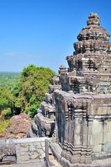 Phnom Bakheng - One of the sixty sandstone shrines that adorn the pyramids steps to the summit (Simon5591) Tags: khmer angkorwat siemreap phnombakheng