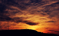Mons Regius (aquigabo!) Tags: blue light sunset sky orange sun mountain canada nature silhouette clouds contrast canon wow skyscape landscape eos rebel amazing twilight cross symbol quebec dusk montreal awesome hill mount montroyal 700d t5i