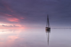 CK 78 Mary 2 (merseamillsy) Tags: sky seascape reflection water sunrise reflections boats boat wooden pastel traditional mary calm lilac ck 78 smack waterscape oysterfishing oystersmack