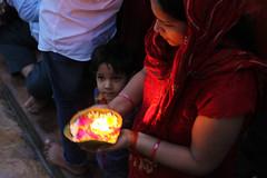 Ganga Aarti in Haridwar (Claudio Nichele) Tags: portrait people india face fire inspiring ganga aarti rishikesh