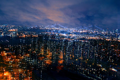 New York City Serenade (Alessio Trerotoli) Tags: life street city nyc travel sky urban panorama newyork abstract art brooklyn night clouds landscape lights mood cityscape arte manhattan fineart citylights eastriver eastside
