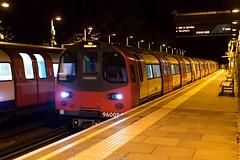 1996 Stock Jubilee Line (1) (LFaurePhotos) Tags: life london station night train empty platform tracks railway vehicle londonunderground publictransport middlesex deserted jubileeline canonspark