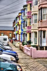 Borth houses (Mabjack) Tags: uk wales seaside terrace townhouse multicoloured ceredigion borth brightcolours mabjack