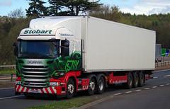 Stobart Scania R450 PO15UWZ on the A90, Dundee, 2/5/16 (andyflyer) Tags: truck transport lorry a90 haulage hgv stobart eddiestobart roadhaulage scaniar450 roadtramsport po15uwz zaraalexandra
