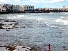 standing alone (simon_berlin62) Tags: ocean life street city travel sea woman colour photography coast meer northafrica morocco maroc stadt casablanca marokko 2016  nordafrika afriquedunord