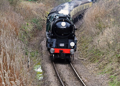 34053 running as 34098 at Woolston 9th March 2016 (David Cronin) Tags: somerset rebuilt woolston westsomersetrailway 462 battleofbritainclass 34053 34098 somersetanddorsetrailway templecombe sirkeithpark lightpacific springsteamgala2016