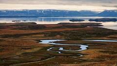 Iceland (SpechtPhotodesign) Tags: mountains west water clouds sunrise landscape island iceland view vista landschaft sonnenaufgang overview wolkig