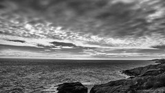 moody days by the Norwegian Sea (lunaryuna) Tags: light sea sky bw seascape fall monochrome weather norway clouds season coast blackwhite rocks mood lunaryuna lofoten cloudscape lofotenislands oceanshore norwegiansea lofotenarchipelago autumnabovethearcticcircle