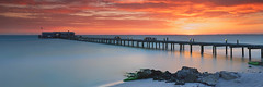 Sunrise at the City Pier (josesuro) Tags: longexposure beach digital sunrise landscapes tampabay florida piers 2016 annamariaisland leebigstopper afsnikkor28mmf18g jaspcphotography nikond750