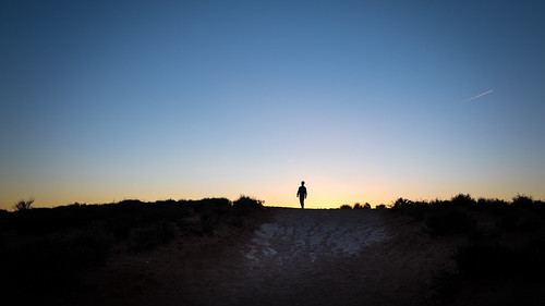 Sunset boy - Page, United States - Color street photography
