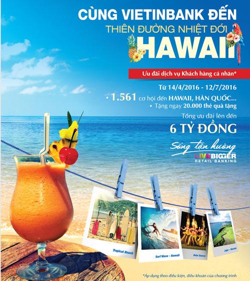Du lịch Hawaii miễn phí cùng VietinBank