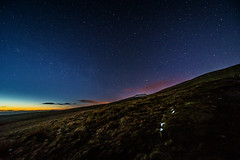 Starlight above Corn Du (karlmccarthy1969) Tags: light sky snow green ice grass night stars nikon awesome wide breconbeacons