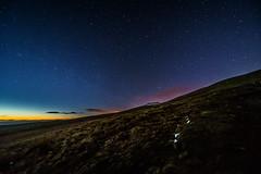Starlight above Corn Du (karlmccarthy1969) Tags: light sky snow green ice grass night stars nikon awesome wide breconbeacons