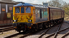 73124 73964 (JOHN BRACE) Tags: english electric foundry for 1974 with diesel 1988 railway 1966 class again use gb april electro while vulcan express then february keynes seen bluebell built named 73 gatwick jeanette rebuilt 2014 horsted railfreight 73124 73205 73964 renumbered e6031