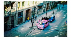 Pink Police (martha ander born 1951) Tags: street pink letters police homemade policecar bokstver fotosndag fs160417