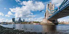 Tower Bridge panorama (Michael Echteld) Tags: city england london monument thames towerbridge michael bright unitedkingdom availablelight sony bluesky historical sigma1020 echteld sonya700 sonyalpha700 michaelechteld michaelechteldphotography
