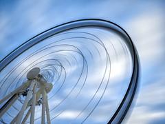 Spinning wheel (philipsavory) Tags: photography long exposure brisbane southbank ferriswheel longexposurephotography microfourthirds leebigstopper olympusomdem5 panasonic1235mmf28