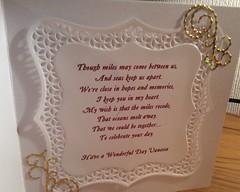 The verse inside a birthday card (margaret.pilkington47) Tags: handmade birthdaycard verse forsister fromma
