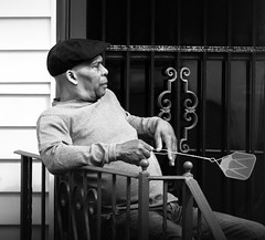 Waiting For Flies * Explore* (Catskills Photography) Tags: people urban blackandwhite streetphotography streetcandid canon70300mmllens