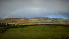 Somewhere Over the Rainbow (Mark.L.Sutherland) Tags: cameraphone sky green grass scotland highlands rainbow north cellphone samsung hills smartphone fields sutherland somewhereovertherainbow phoneography androidography galaxys5