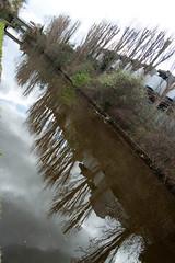 On the LOOP (mrdamcgowan) Tags: reflection london canal industrial treeline grandunioncanal londonist