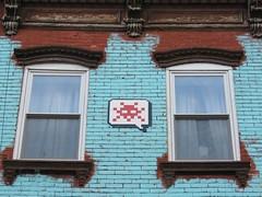 Space Invader NY_167 (tofz4u) Tags: nyc red usa white streetart ny newyork tile rouge mosaic unitedstatesofamerica spaceinvader spaceinvaders invader blanc mosaque artderue tatsunis kidsuper ny167
