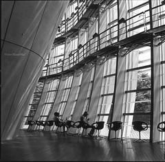 The National Art Center, Tokyo (**Hu) Tags: shadow bw film square tokyo fuji hasselblad epson 黑白 cf 六本木 80mm 美術館 哈蘇 国立新美術館 東京都港区 gtx900 thenationalartcenter